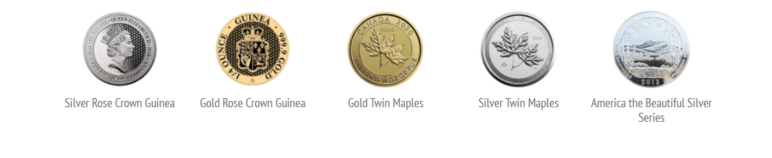 Birch Gold Group Review Featured IRA Coins